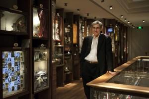 Orhan Pamuk in his museum