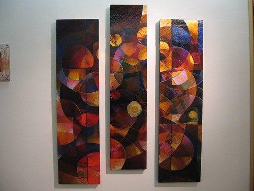 Dupree, Stolen Dreams and Forbidden Fruit Series Golden Plum (Triptych)