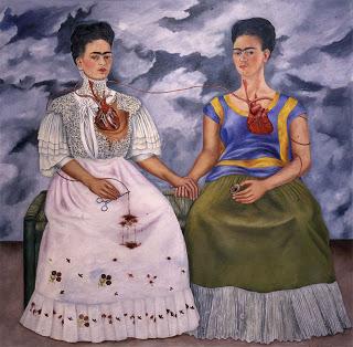 """Frida Kahlo The Two Fridas (1939) oil on canvas, 67 x 67"""", Collection Museo de Arte Moderno, Mexico City"""