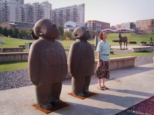 Sculpture garden at Shanghai Sculpture Space, Red Town