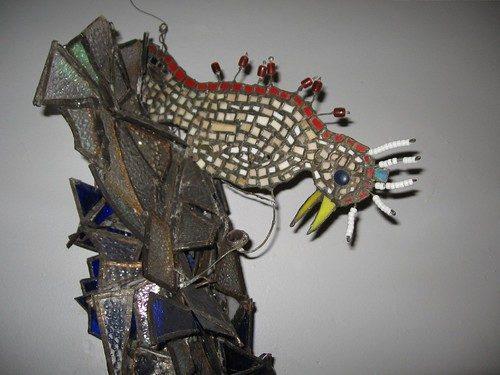 A bird detail from a sculpture by Celestine Wilson Hughes