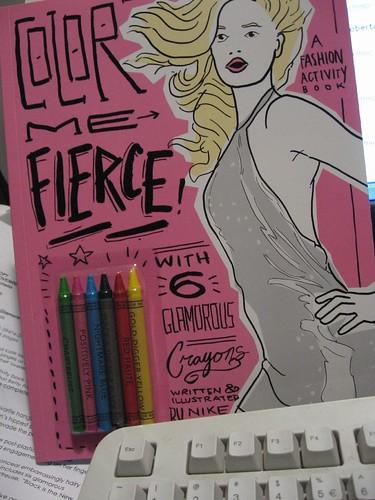 Nike Desis' Fashion activity book, Color Me Fierce! www.quirkbooks.com