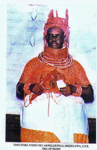Ọba Erediauwa, who has held the title since 1979. Photo from Urhobo Historical Society.