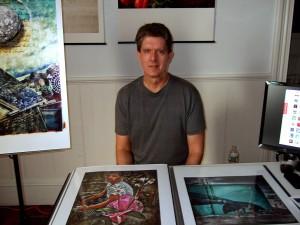 Dan Marcolino at his display table at the Garden Party.