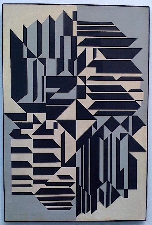 Grandpop of Op Art: Victor Vasarely's 1959 canvas Geminorium.