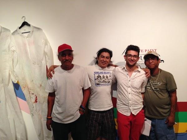 Guillermo, Brujo de La Mancha, Felipe Castelblanco and Victor at Practice Gallery