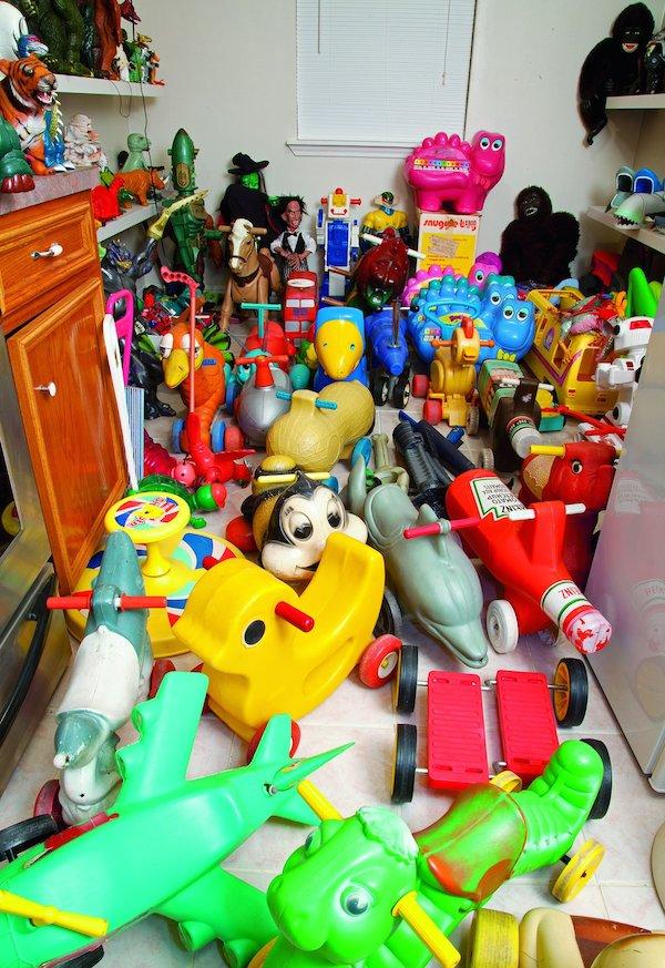 Part of Trenton Doyle Hancock's toy collection, photo Sara Trigg, courtesy Princeton Architectural Press.