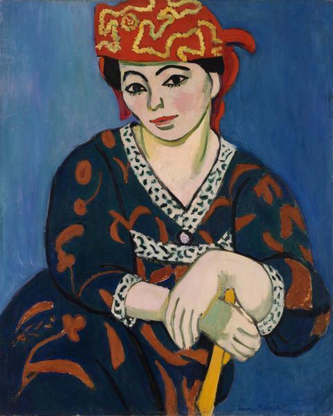 Henri Matisse 'Red Madras Headdress' (1907) oil on canvas, Barnes Foundation.