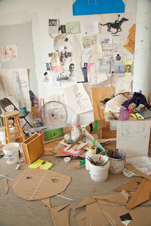 A corner of Ryan Johnson's Brooklyn studio,photo Sara Trigg, courtesy Princeton Architectural Press.