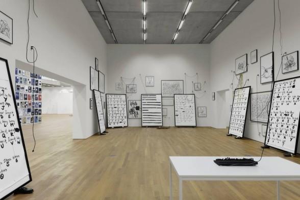 framed works in gallery