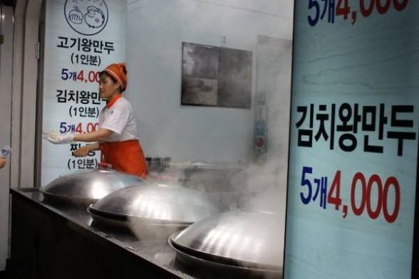 Dumplings cooking