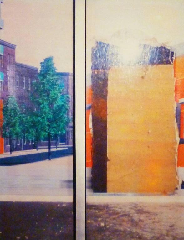 tree and orange rectangle