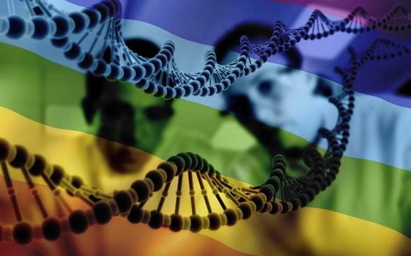 Rainbow flag and DNA