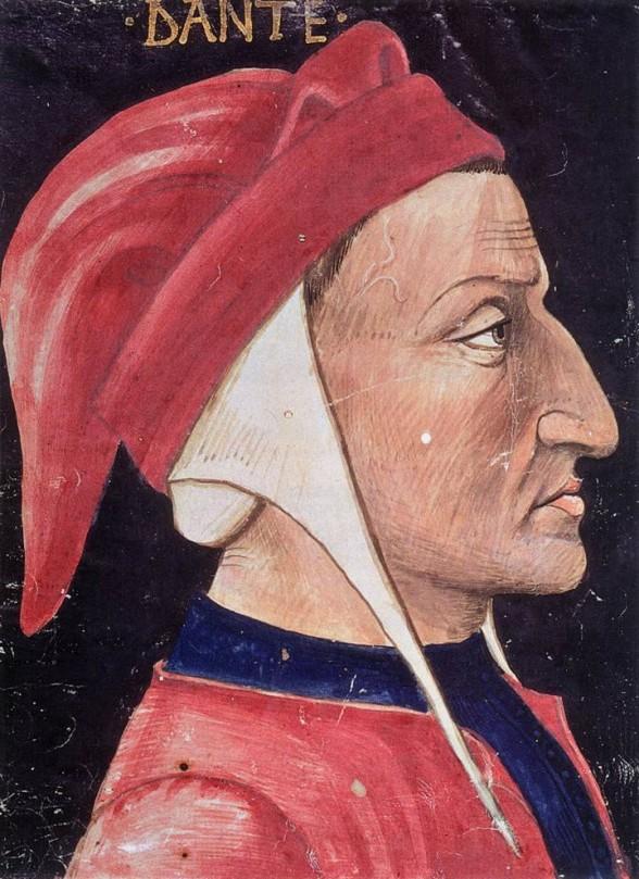 painting of Medieval poet, Dante