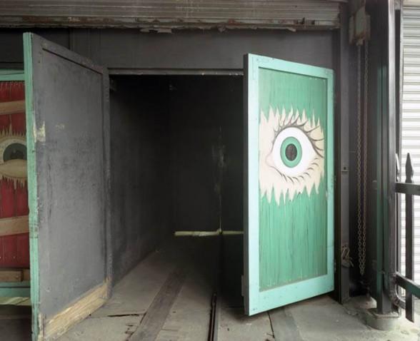 Eye on door, Spook-A-Rama, Coney Island, 2005.