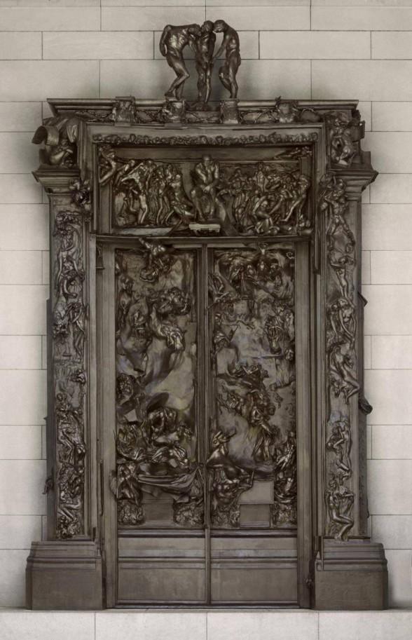sculptural relief of doors