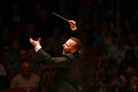 The ever so vibrant Yannick Nézet-Séguin (Music Director) conducting The Philadelphia Orchestra; Courtesy of The Philadelphia Orchestra