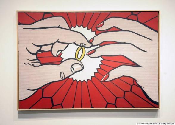"Roy Lichtenstein's ""The Ring"". Image via Washington Post, via Getty Images."