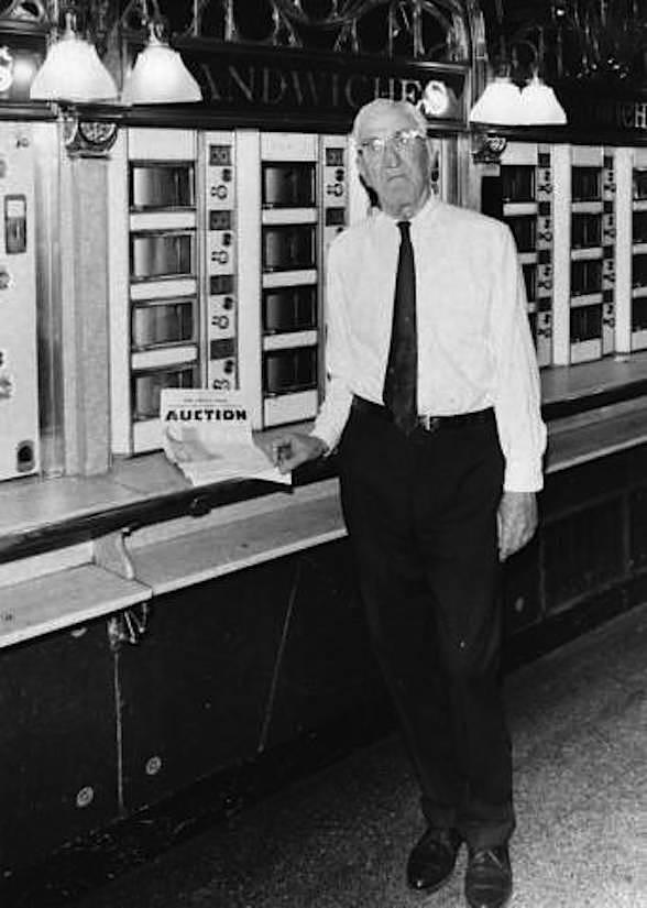 Man at automat
