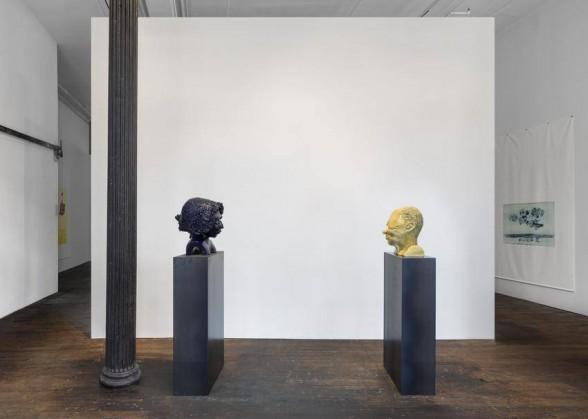 """Thomas Schutte, """"Mann und Mensch,"""" 2001, ceramic."""