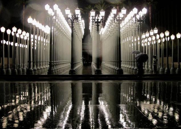 Chris Burden, Urban Light. AP Photo/Nick Ut.