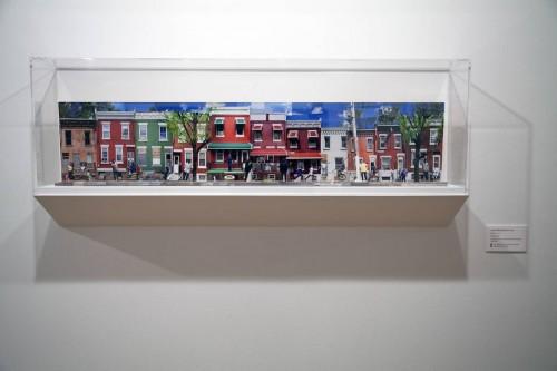 photo installation of city block