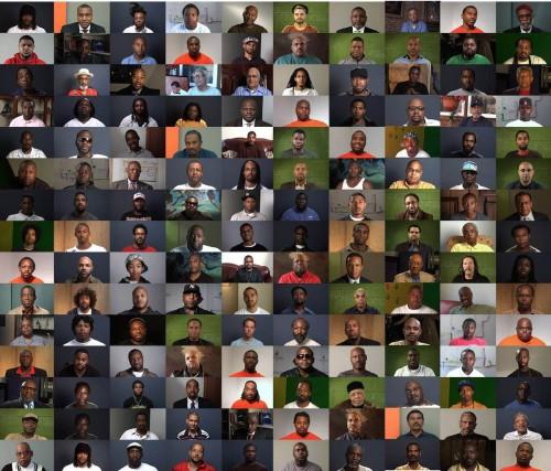 grid of black men's portraits