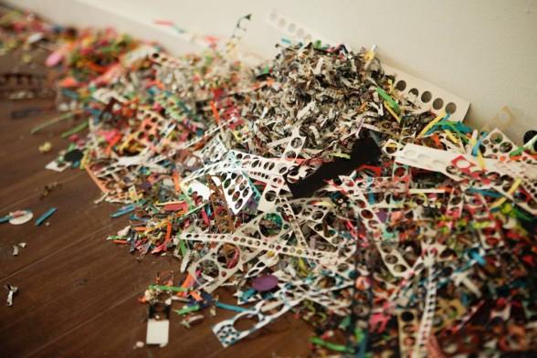 Kelly Kozma, Confetti, Crackle, Pop, at Paradigm Gallery, installation detail.