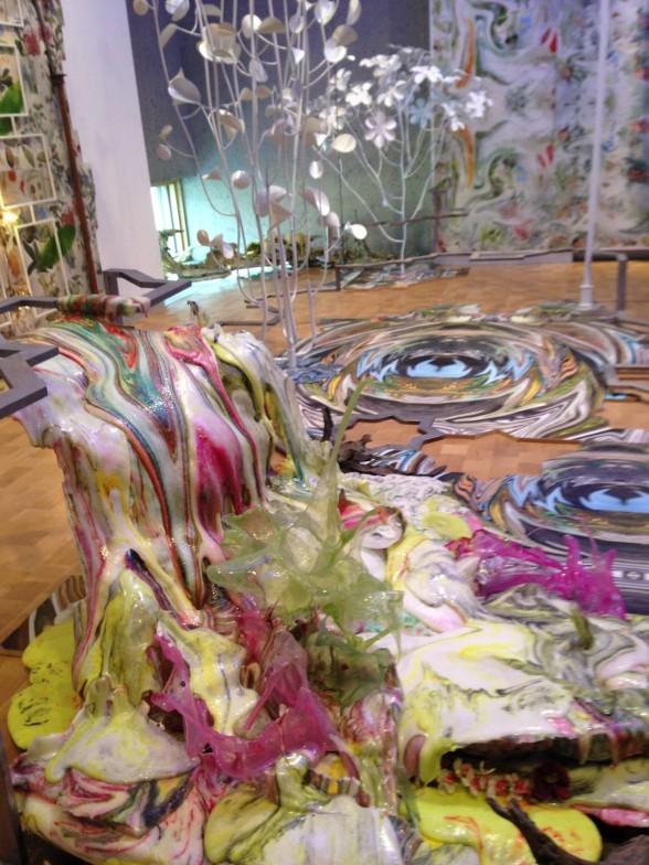 colorful art installation