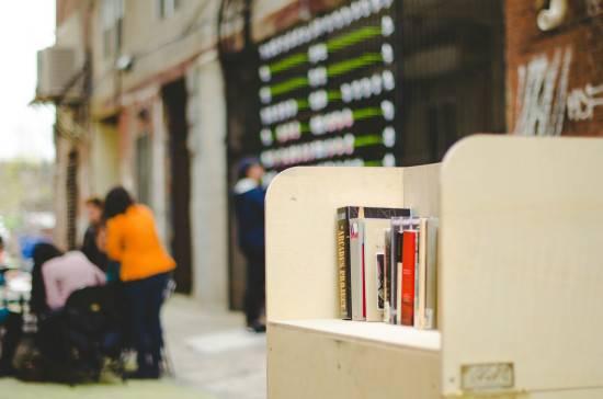 book lending library outside