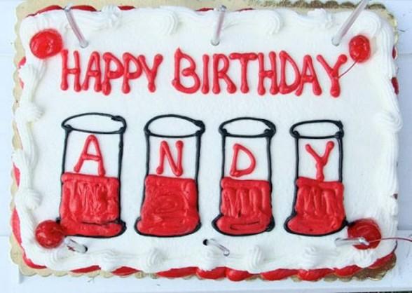 birthday cake with writing