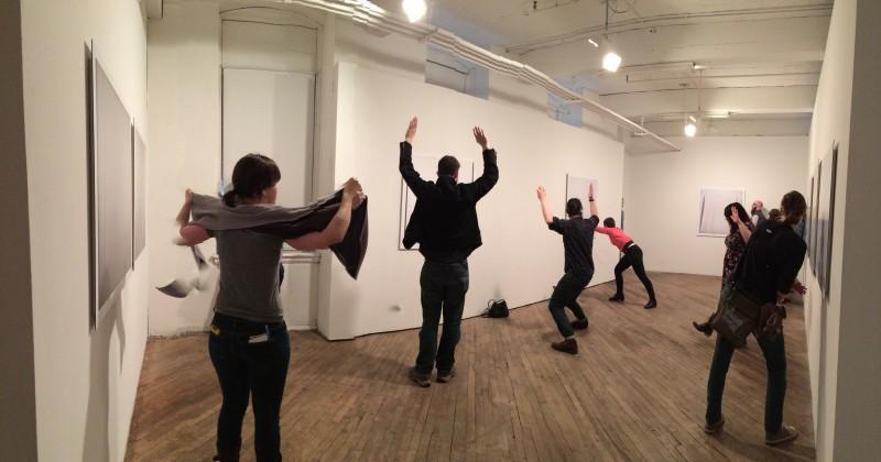 Matt Kalasky Suzanne Seesman and people respond to art Vox Populi Gallery