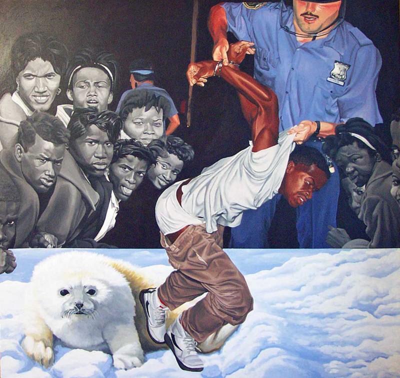 Cavin Jones painting