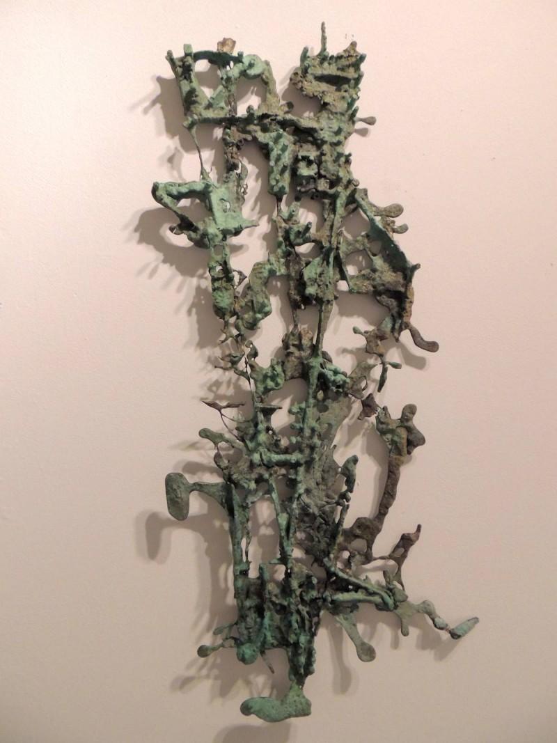 bronze wall sculpture by Tyler Kline