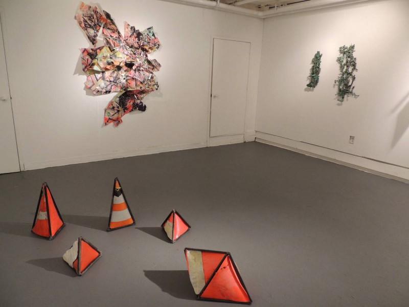 Tyler Kline installation of sculpture
