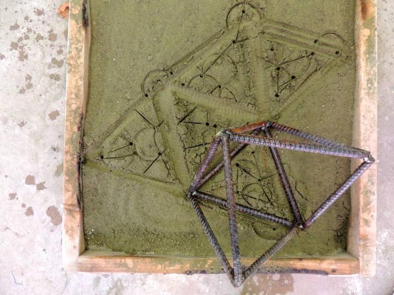 Tyler Kline, sand mold for bronze pour