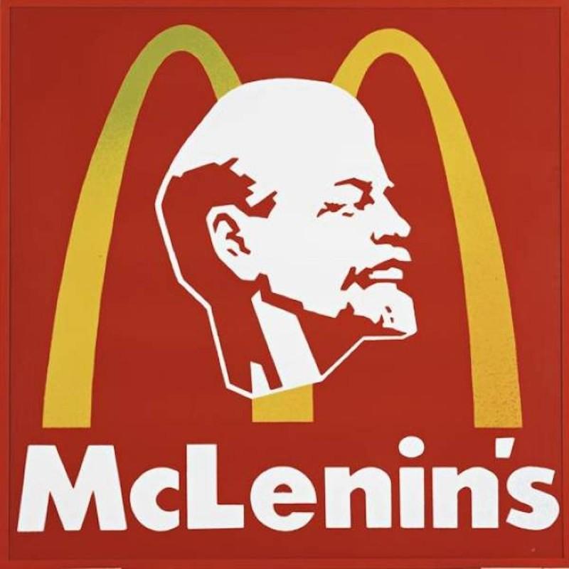 Alexander Kosolapov logo with Lenin and McDonalds