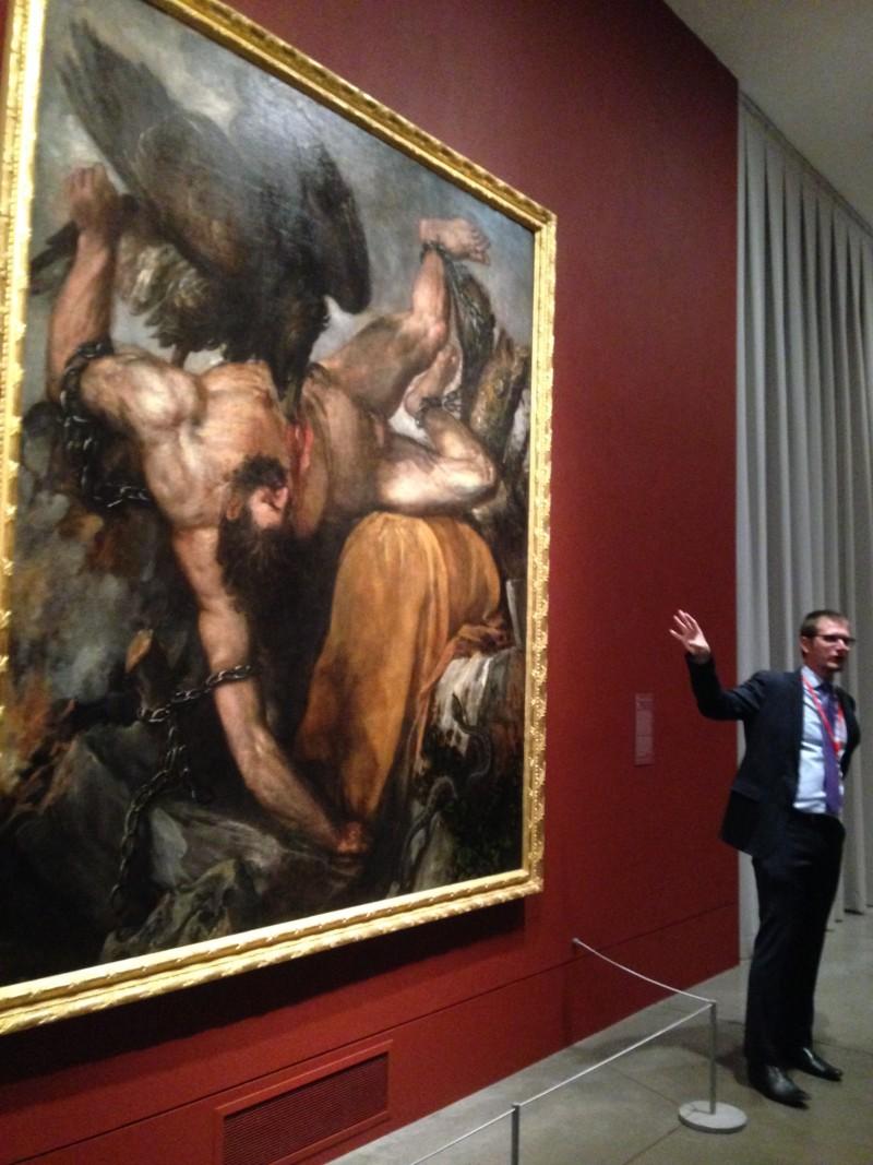 Titian painting Tityus from the Prado Museum Madrid