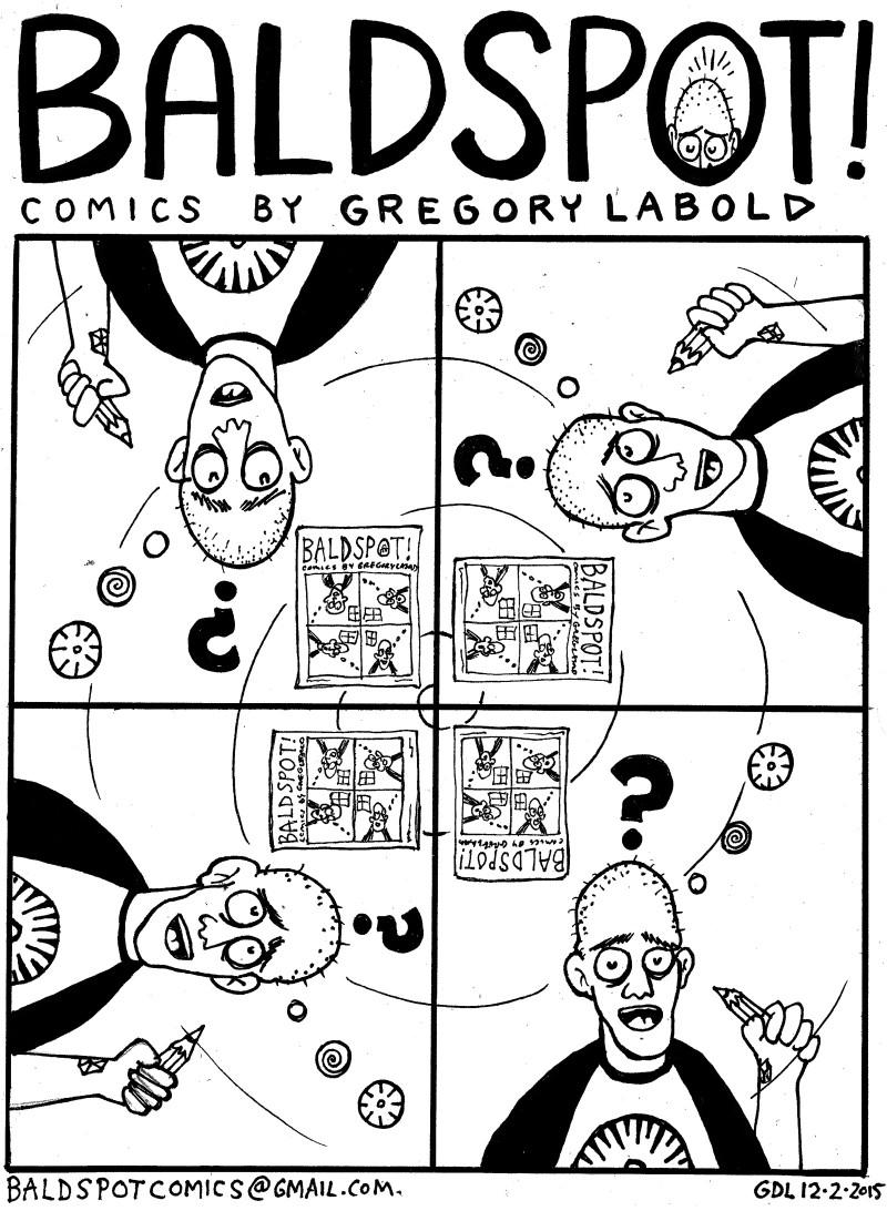 Gregory Labold, Bald Spot Comics, confusion