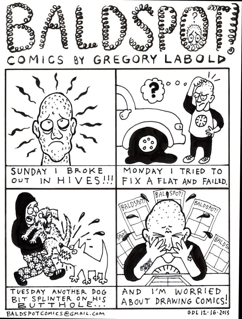 Gregory Labold's Bald Spot Comics