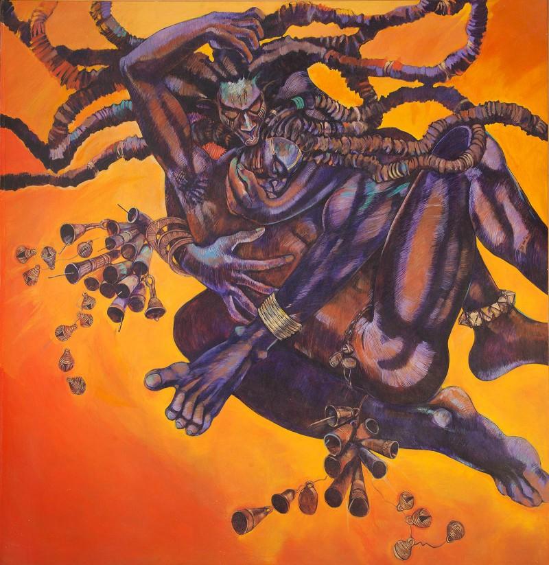 Barbara Bullock Dark Gods acrylic on canvas