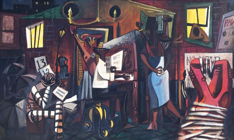 "Charles Pridgen ""The Blues"" oil on canvas"