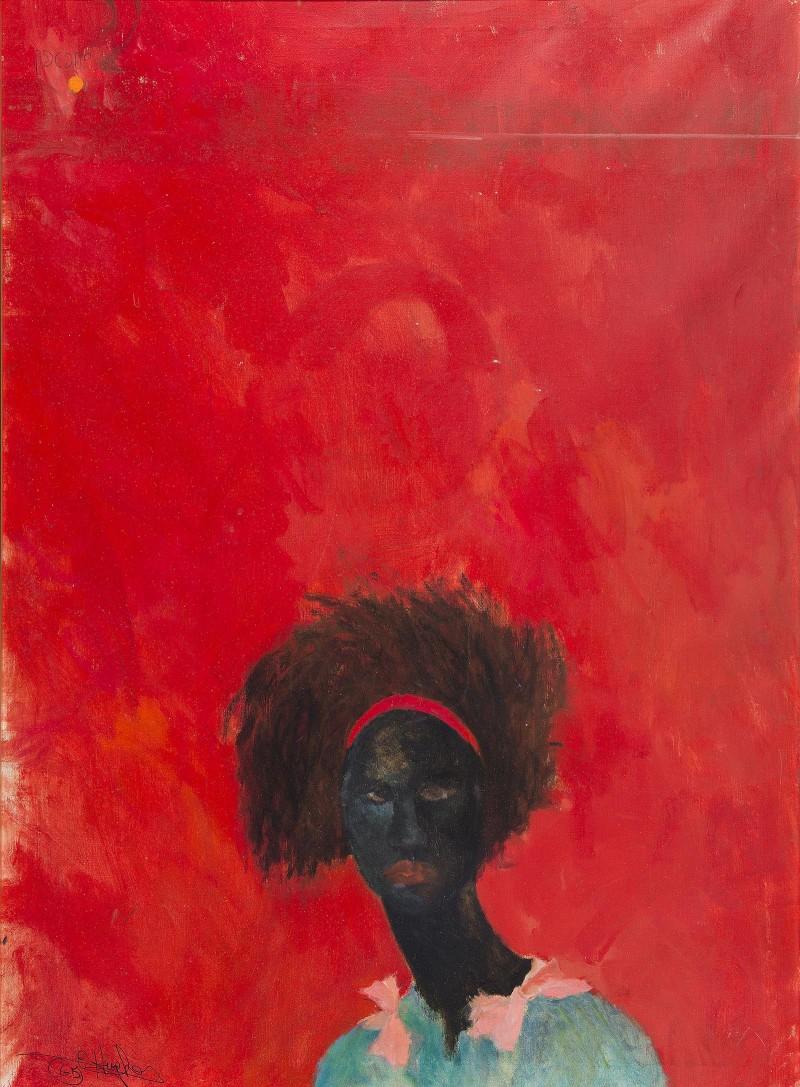 Raymond Hughes Meet Miss Subway oil on canvas
