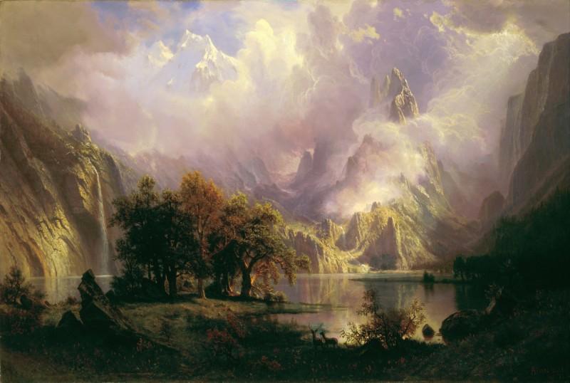 Albert Bierstadt painting of the American West