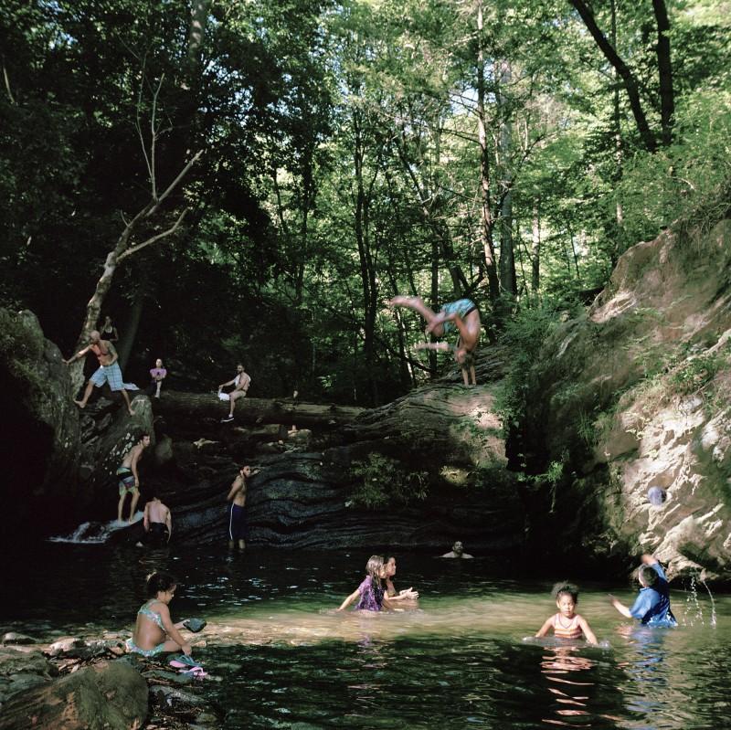 Sarah Kaufman photo of bathers at Devil's Pool