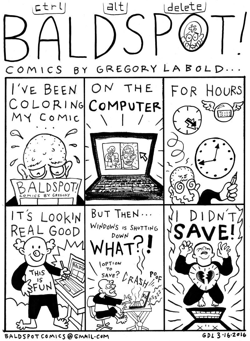 Gregory Labold Bald Spot Comics