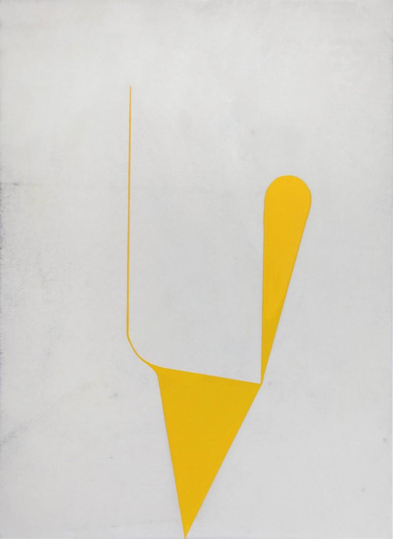 Katie Bremerman, No: 1606, Enamel on waxed paper, 2016