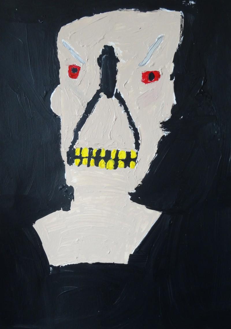 David Matthew Schmuckler, Evil Scary Monster, painting