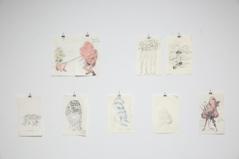 Firelei Báez, Untitled (Ciguapa Studies), 2013. Ink and gouache on paper. Photograph courtesy of Taller Puertorriqueño.