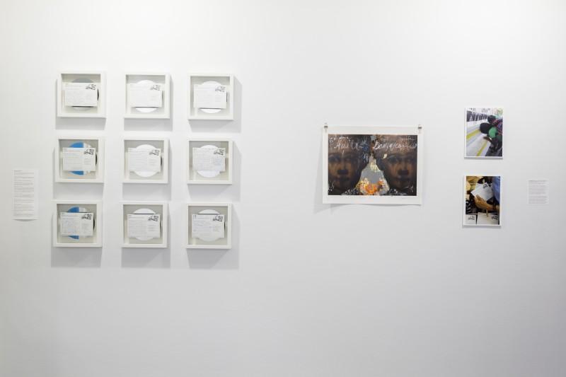 Scherezade García, La memoria del perejil/La Hispaniola: Postcard Project, Action/Installation/Collection of Memory, 2012. Photograph courtesy of Taller Puertorriqueño.